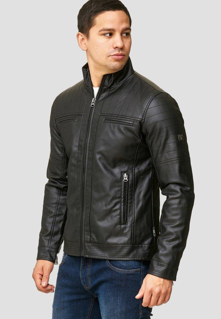 INDICODE JEANS - BROOK - Faux leather jacket - black