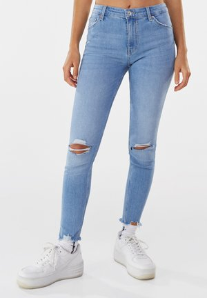 LOW WAIST PUSH UP - Jeans Skinny Fit - blue denim