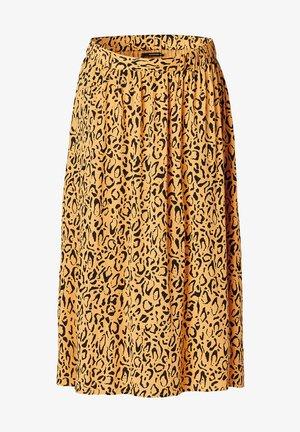 Pleated skirt - honey mustard