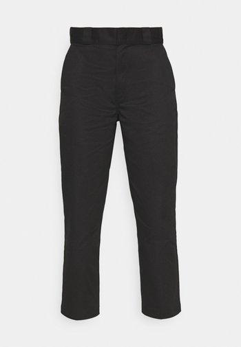 CROPPED - Pantalones - black