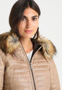 Oakwood - FURY - Leather jacket - dark beige - 4