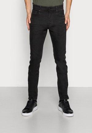 SLIM - Slim fit -farkut - slander black  - worn in umber cobler