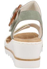 Rieker - Platform sandals - white - 2
