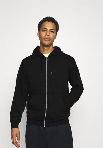 STANDARD ZIP HOODIE - Zip-up sweatshirt - black