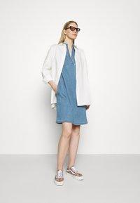 Marc O'Polo - DRESS TUNIQUE STYLE   - Shirt dress - blue denim - 1