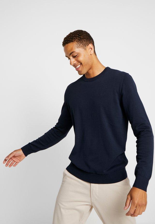 CREW - Stickad tröja - navy
