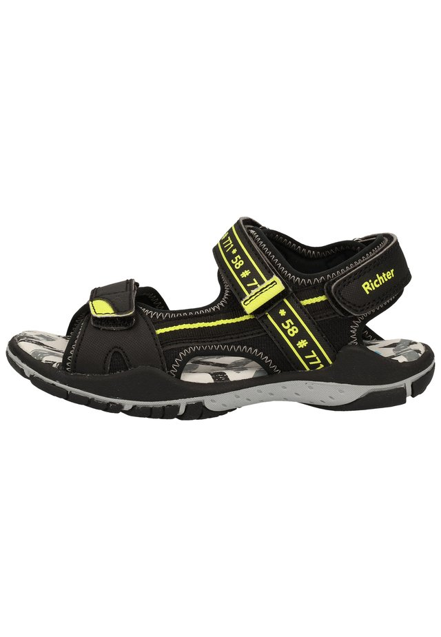 Walking sandals - black/neon yellow 9902