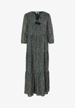Maxi dress - dark green aop