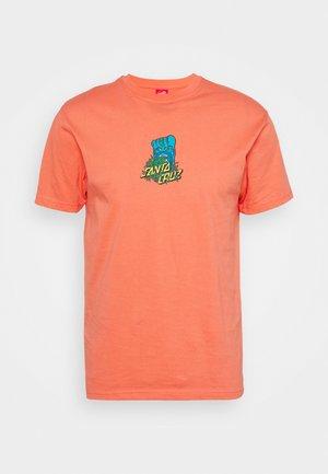 BIGFOOT SCREAMING HAND  UNISEX - Print T-shirt - salmon