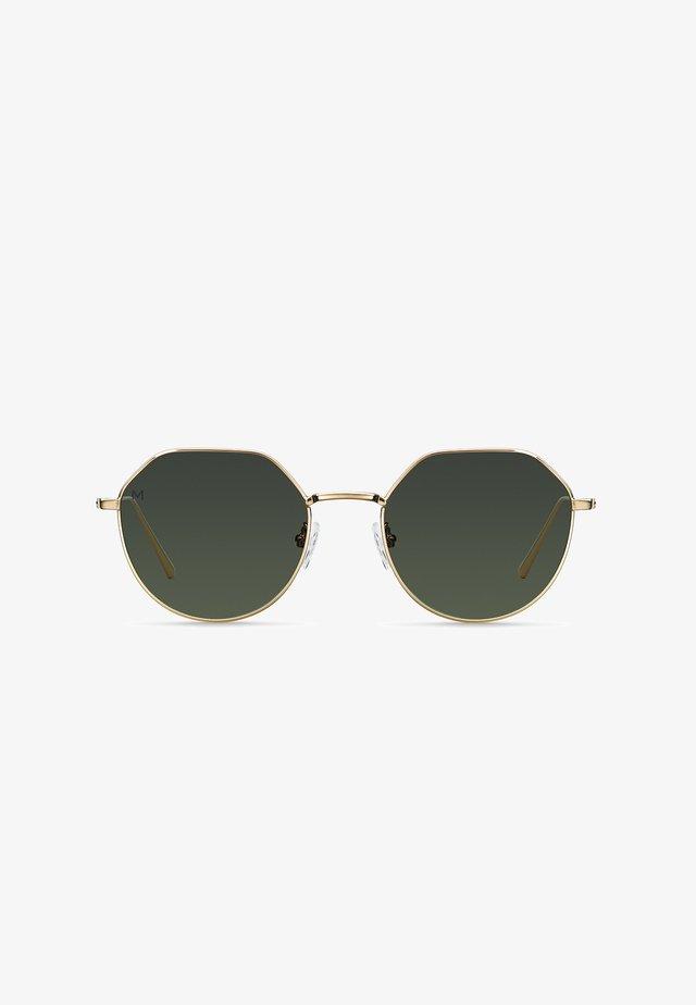 ALDABRA - Sunglasses - gold olive