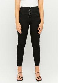 TALLY WEiJL - Jeansy Skinny Fit - black - 0