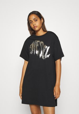 BOWLY DRESS - Jersey dress - black