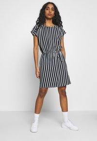 Vero Moda - VMSASHA BALI SHORT DRESS NOOS - Day dress - navy blazer/coco - 0