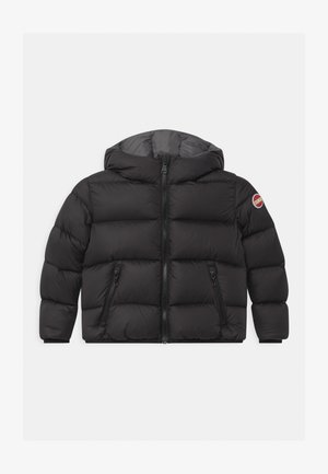 JUNIOR HOODED UNISEX  - Down jacket - black/dark grey