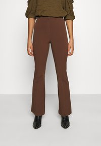 Monki - VIOLET TROUSERS - Trousers - brown - 0