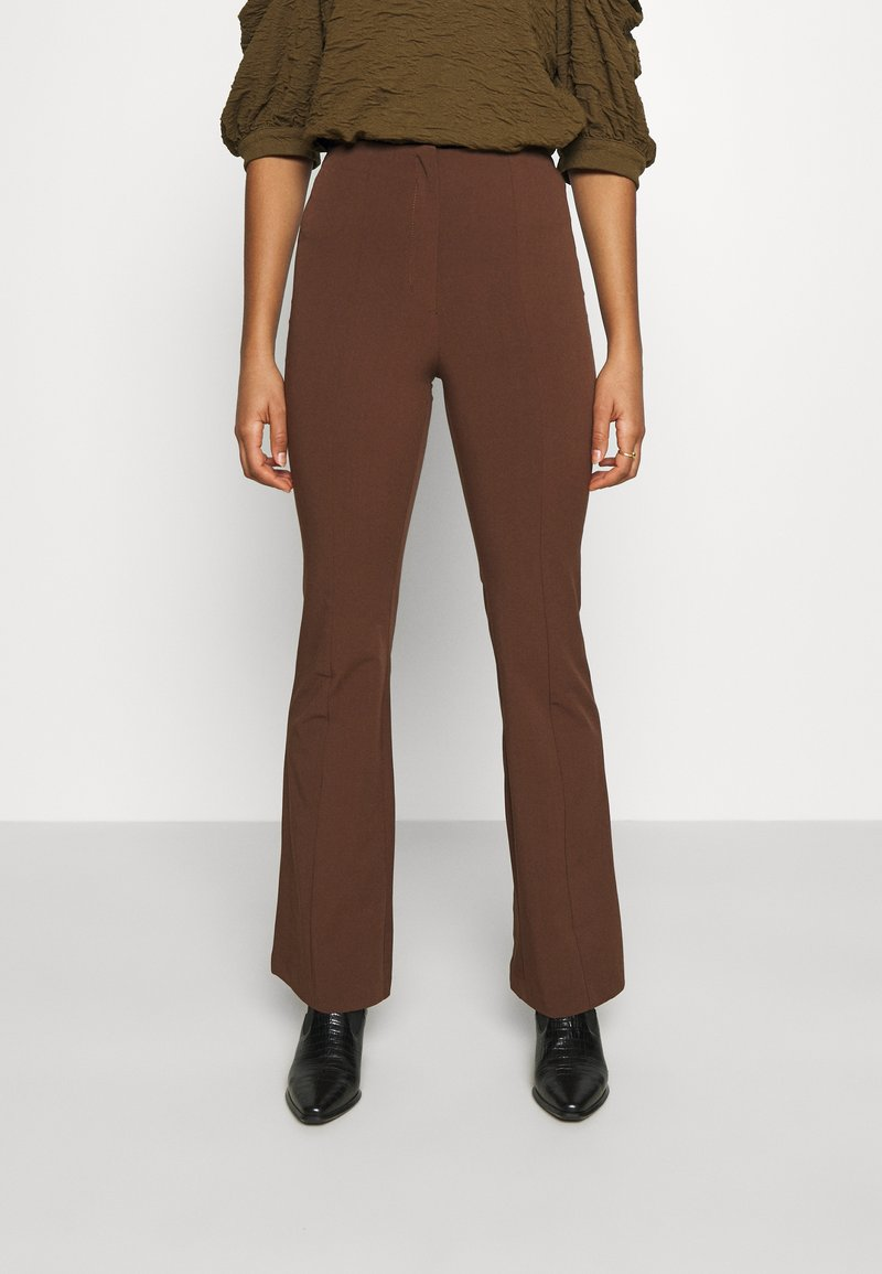 Monki - VIOLET TROUSERS - Trousers - brown