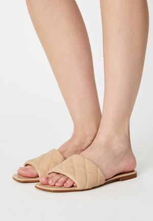 LEATHER - Mules - beige