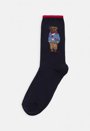 GIRL BEAR CREW SOCK SINGLE - Socks - navy