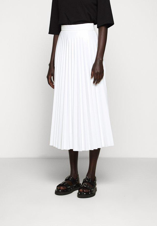 PLEATED SKIRT - Jupe trapèze - white