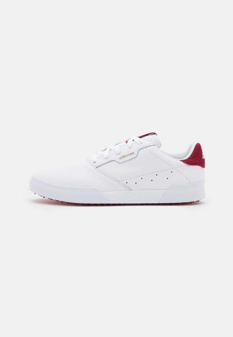 adidas Golf - ADICROSS RETRO - Golf shoes - footwear white/team college burgundy