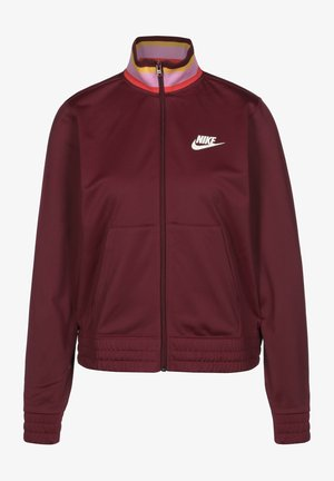 Training jacket - dark beetroot/white