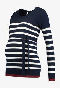 MAMALICIOUS - MLKENNA - Jumper - navy blazer/snow white - 4