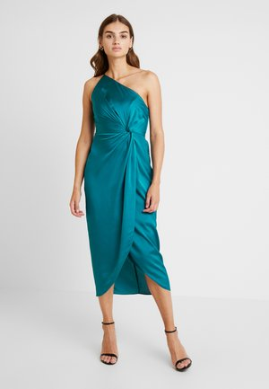 ONE SHOULDER TWIST DRESS - Sukienka koktajlowa - turquoise