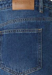 Missguided Petite - WRATH HIGHWAISTED SPLIT - Straight leg jeans - blue - 2