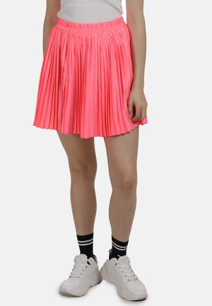 ROCK - Pleated skirt - neon pink