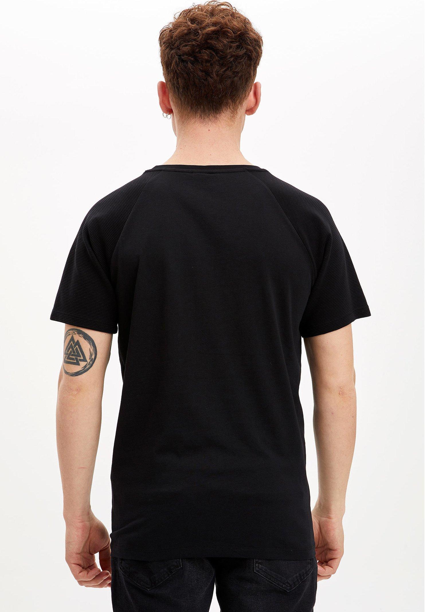 DeFacto Basic T-shirt - black X9M4a