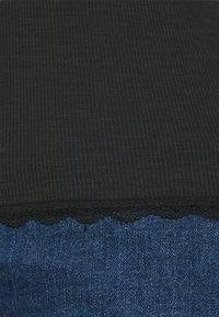 Glamorous Curve - ROUND NECKLINE AND LONG SLEEVES - Top sdlouhým rukávem - black - 3