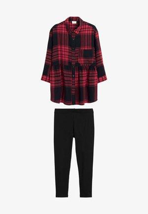 SET - Leggings - Trousers - red