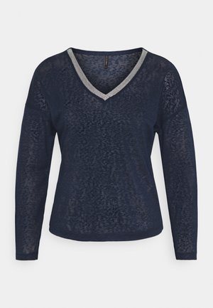 ONYRITA V NECK - Jumper - night sky/silver