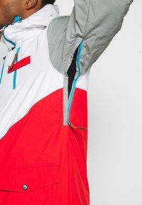 OOSC - FRESH POW JACKET - Lyžařská bunda -  white/red/black/grey - 6