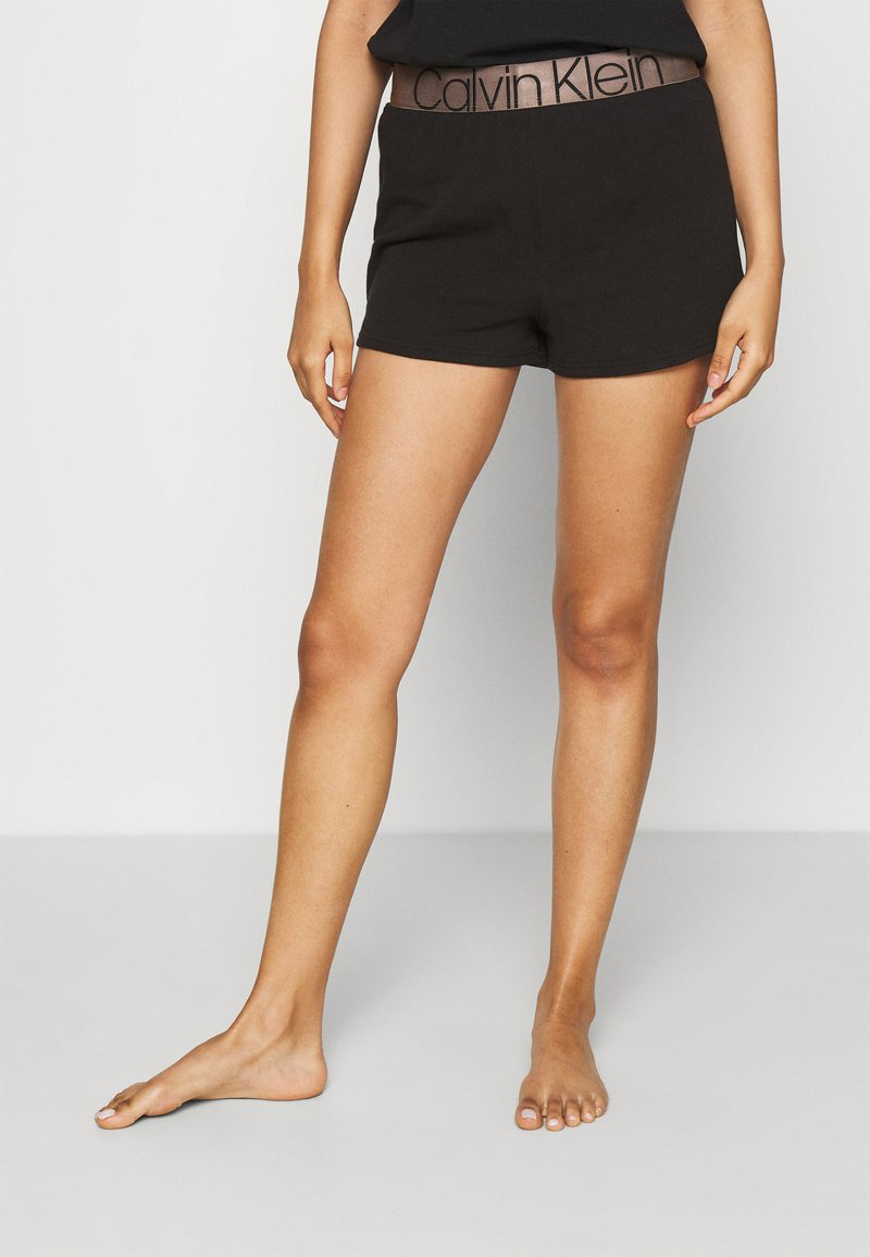 Calvin Klein Underwear - ICONIC LOUNGE SLEEP - Pyjamahousut/-shortsit - black