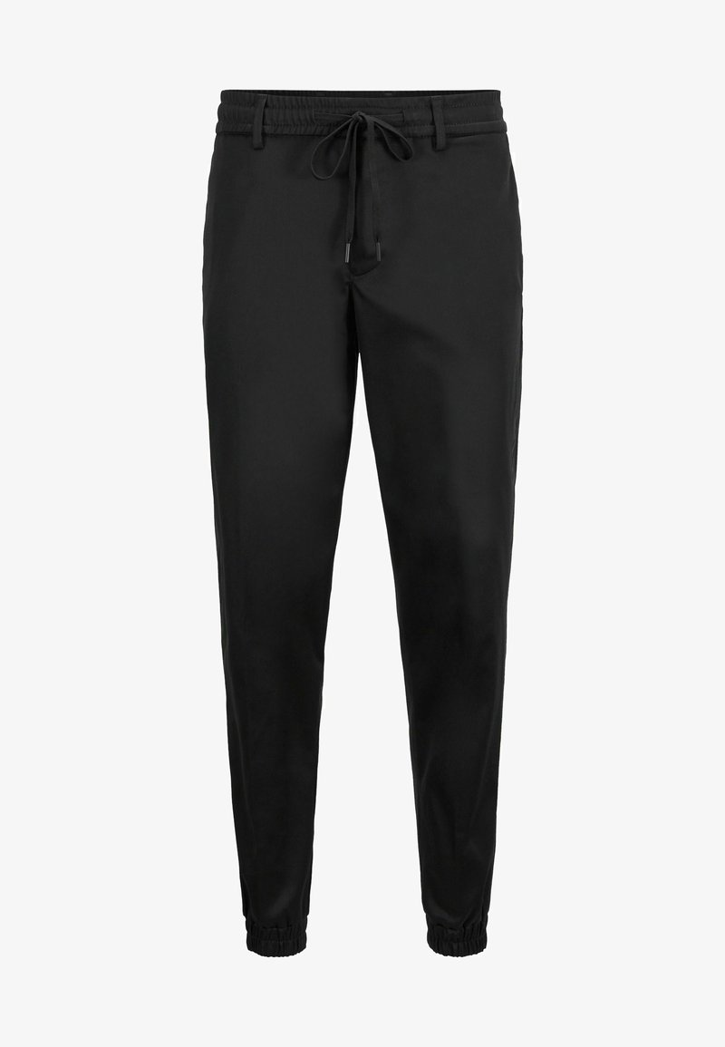 BOSS - TAPERED CUFFED - Tracksuit bottoms - black
