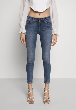 ONLFCARMEN DECO STITCH - Jeans Skinny Fit - medium blue denim
