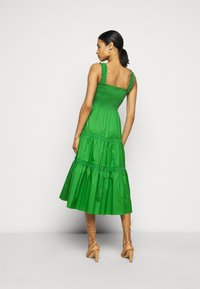 Tory Burch - SMOCKED RUFFLE DRESS - Day dress - resort green - 2