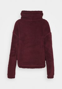 Hollister Co. - REVERSIBLE SHERPA - Fleece jumper - tan/rust - 1