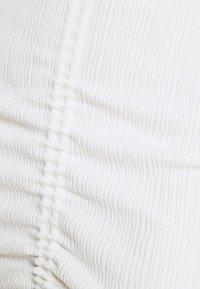Missguided - RUCHE FRONT MIDI DRESS - Shift dress - white - 5