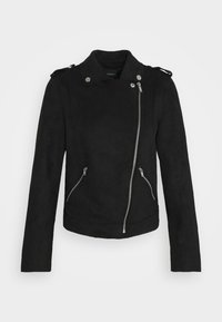 ONLY - ONLMAYO-UP BIKER JACKET - Imitert skinnjakke - black - 4