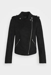 ONLMAYO-UP BIKER JACKET - Faux leather jacket - black