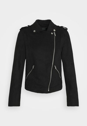 ONLMAYO-UP BIKER JACKET - Giacca in similpelle - black