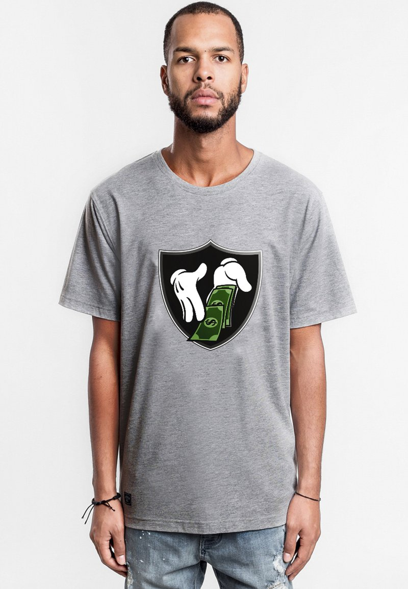 Cayler & Sons - MONEY TO BLOW - Print T-shirt - heather grey/mc