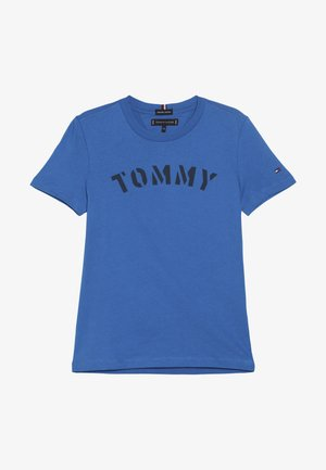 ESSENTIAL GRAPHIC TEE - Print T-shirt - blue