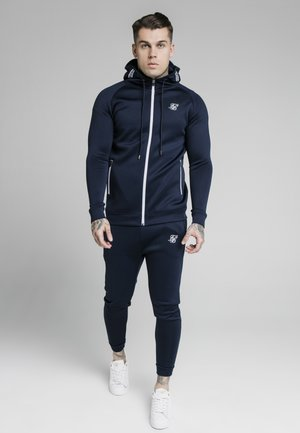 Zip-up hoodie - navy / white
