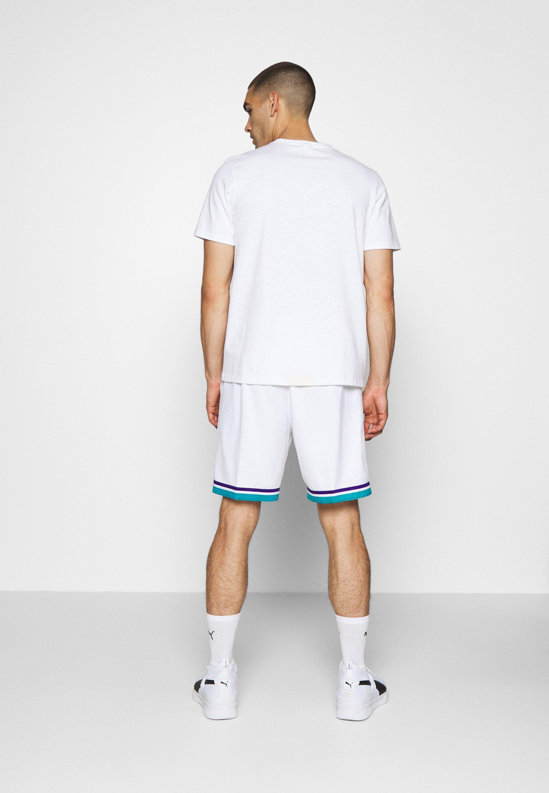Mitchell & Ness SWINGMAN SHORTS 1992-93 HORNETS - Short de sport - white/teal