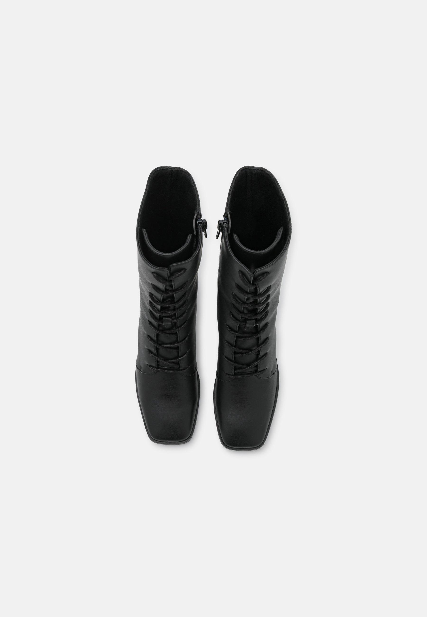 Femme ELMA BOOT VEGAN - Bottes à lacets - black dark