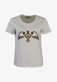 Mos Mosh - ROYAL  - Print T-shirt - creme/beige - 0
