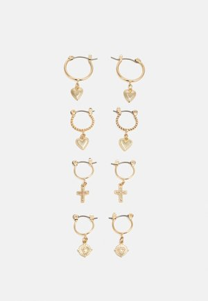 PCLOVELI EARRINGS 4 PACK - Kolczyki - gold coloured